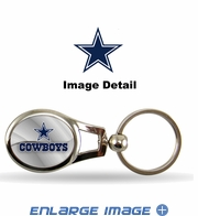 Key Chain - Metal Oval - Dallas Cowboys