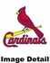 Key Chain - Metal Oval - St. Louis Cardinals