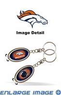 Key Chain - Metal Spinner - Denver Broncos