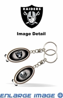 Key Chain - Metal Spinner - Oakland Raiders