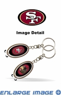 Key Chain - Metal Spinner - San Francisco 49ers