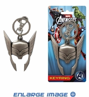 Key Chain - Pewter - Marvel Avengers - Thor - Helmet