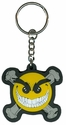 Key Chain - Rubber - Car Truck SUV - Smiley Chaos Face with Crossbones