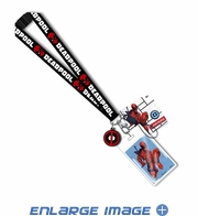 Lanyard with Card Holder and Charm - Marvel Comics - Deadpool - Logo