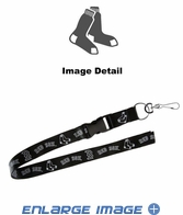 Lanyard with Key Chain Clip and Velcro closure - Blackout - Boston Red Sox