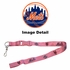 Lanyard with Key Chain Clip and Velcro closure - Pink - New York Mets