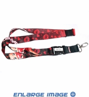 Lanyard with Key Chain Clip - Betty Boop - Lips Stars and Hearts