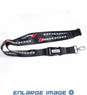 Lanyard with Key Chain Clip - Dodge - Logo