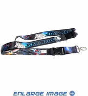 Lanyard with Key Chain Clip - Star Wars - Movie Space Scene