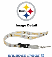 Lanyard with Key Chain Clip and Velcro closure - Pittsburgh Steelers
