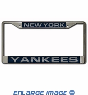 License Plate Frame - Car Truck SUV - 3D Laser Chrome Metal - MLB - New York Yankees