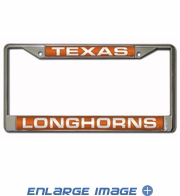 License Plate Frame - Car Truck SUV - 3D Laser Chrome Metal - NCAA - University of Texas - Longhorns