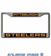 License Plate Frame - Car Truck SUV - 3D Laser Chrome Metal - NFL - Pittsburgh Steelers