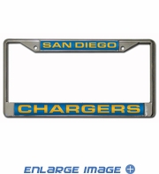 License Plate Frame - Car Truck SUV - 3D Laser Chrome Metal - NFL - San Diego Chargers