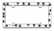 License Plate Frame Car Truck SUV - Animal Pet Paws