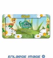 License Plate Frame - Car Truck SUV - Plastic - Disney - Fairies - Tinker Bell - Flowers