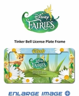 License Plate Frame - Car Truck SUV - Tinker Bell - Flowers