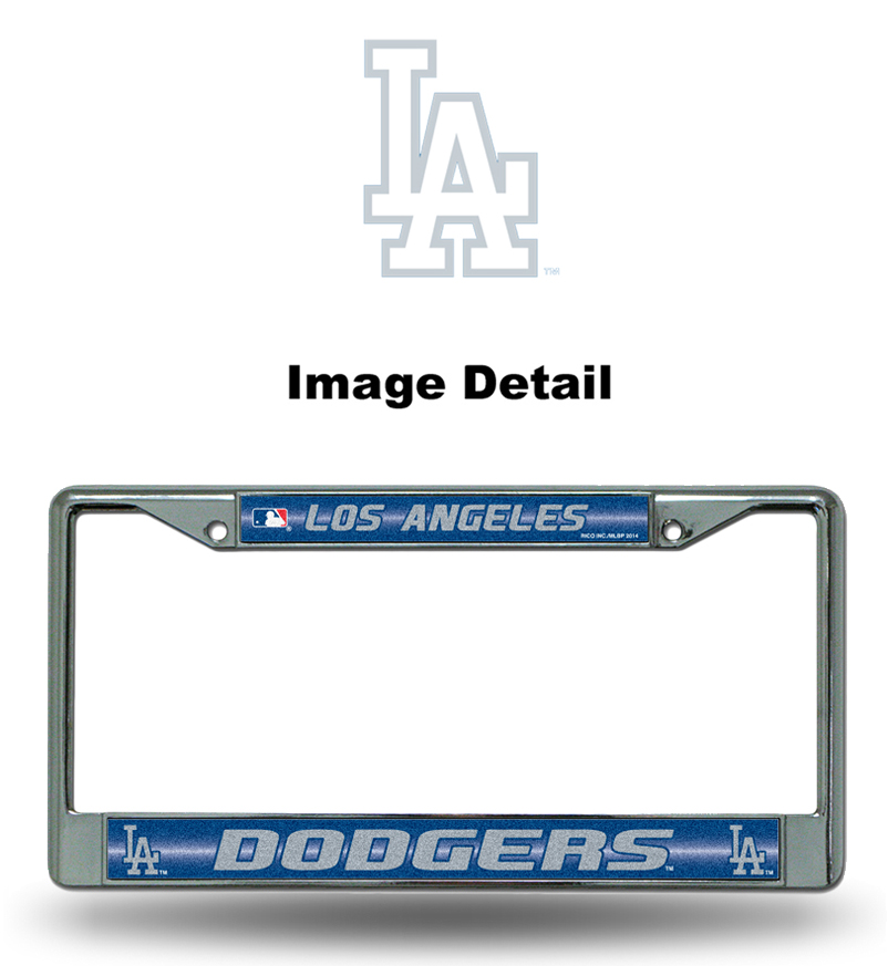 license plate frame chrome metal glitter car truck suv mlb los angeles dodgers