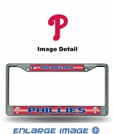 License Plate Frame - Chrome Metal - Bling - Car Truck SUV - Philadelphia Phillies