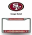 License Plate Frame - Chrome Metal - Bling - Car Truck SUV - San Francisco 49ers