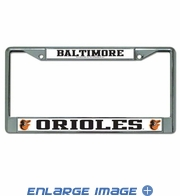 License Plate Frame Chrome Metal Car Truck SUV - Baltimore Orioles