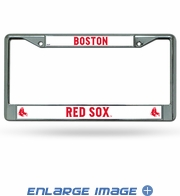 License Plate Frame Chrome Metal Car Truck SUV - Boston Red Sox