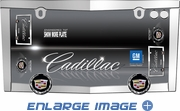 License Plate Frame - Chrome Metal - Car Truck SUV - Cadillac Logo