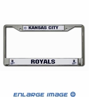 License Plate Frame Chrome Metal Car Truck SUV - Kansas City Royals