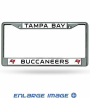 License Plate Frame Chrome Metal Car Truck SUV - Tampa Bay Buccaneers