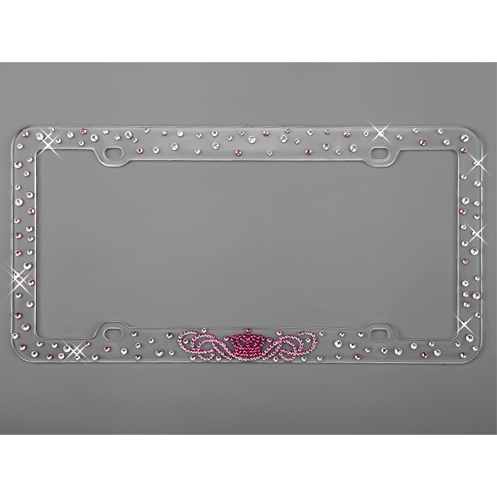 gem crystal car truck suv license plate frames