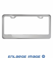 License Plate Frame - Metal - Mirror Chrome Frame with Wide Top Panel