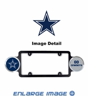 License Plate Frame Plastic - Badge - Car Truck SUV - Dallas Cowboys