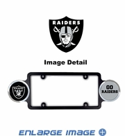 License Plate Frame Plastic - Badge - Car Truck SUV - Oakland Raiders
