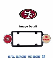 License Plate Frame Plastic - Badge - Car Truck SUV - San Francisco 49ers