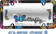 License Plate Frame - Plastic - Car Truck SUV - Butterflies