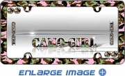 License Plate Frame - Plastic - Car Truck SUV - Camo Girl - Pink