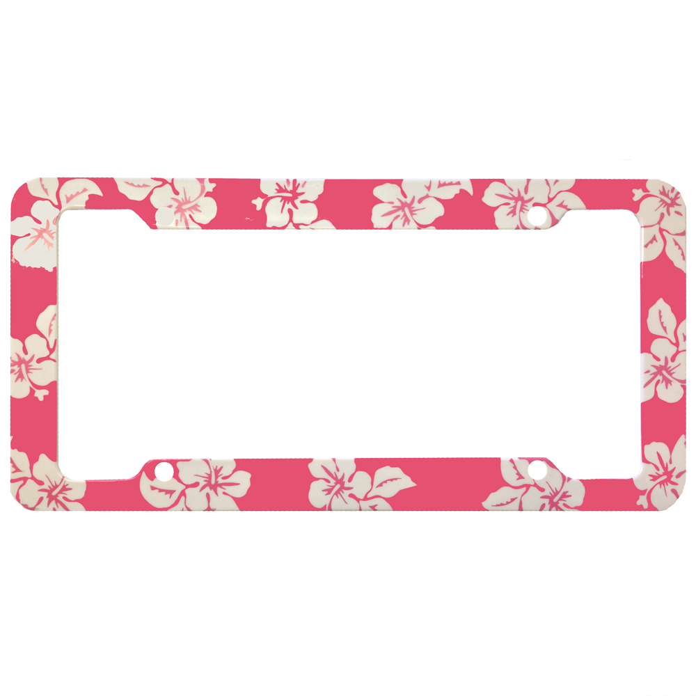 hawaiian print aloha license plate frames