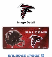 License Plate Tag Metal - Car Truck SUV - Atlanta Falcons