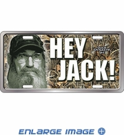 License Plate Tag Metal - Car Truck SUV - Duck Dynasty - Uncle Si Hey Jack!