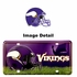 License Plate Tag Metal - Car Truck SUV - Minnesota Vikings