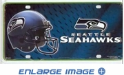 License Plate Tag Metal - Car Truck SUV - Seattle Seahawks