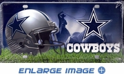 License Plate Tag Metal - Dallas Cowboys