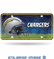 License Plate Tag Metal - San Diego Chargers