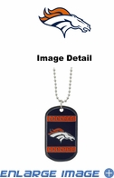 Necklace - Dog Tag - Denver Broncos