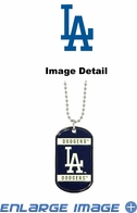 Necklace - Dog Tag - Los Angeles Dodgers