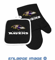 Oven Mitt and Potholder - Kitchen Set - Baltimore Ravens