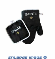 Oven Mitt and Potholder - Kitchen Set - New Orleans Saints