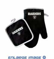 Oven Mitt and Potholder - Kitchen Set - Oakland Raiders