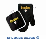 Oven Mitt and Potholder - Kitchen Set - Pittsburgh Steelers