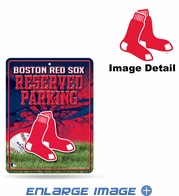 Parking Sign - Metal - Boston Red Sox - RESERVED PARKING